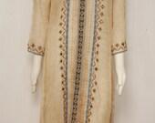 Vintage Brown Bohemian Tunic Dress