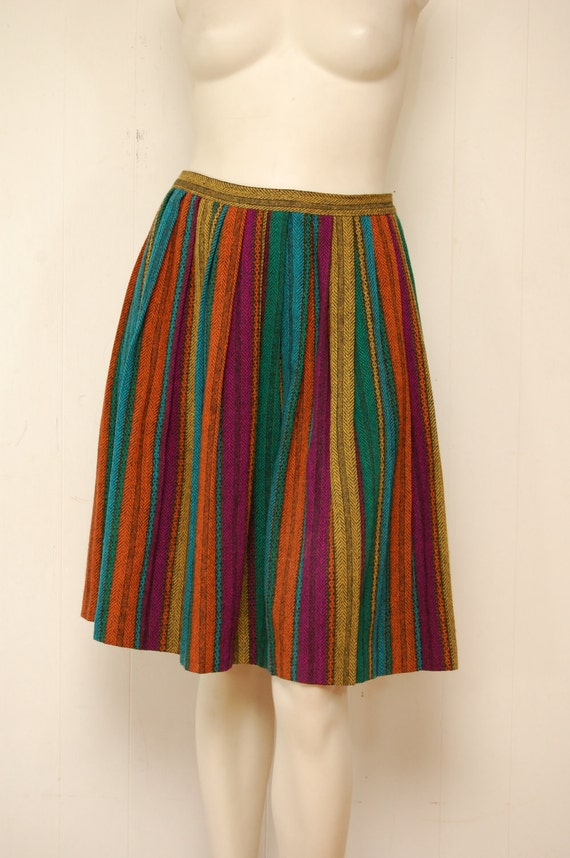 Vintage Colorful Tweed Skirt