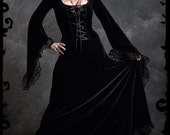 Angelique Corset-Laced Romantic Gothic Wedding Dress - Custom Made by Rose Mortem - Dark Romantic Couture and Fairy Tale Dresses