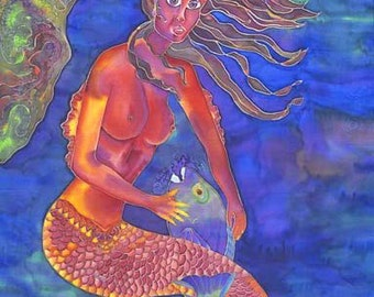 Mermaid Protects Her Parrotfish