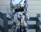 Reserve for Jane:   40s style silk print princess dress