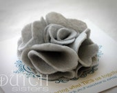 Popping Peony... Heather Grey - hairclip or brooch-also available in other colors