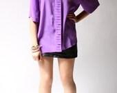 vintage 1960s blouse / 60s purple blouse / Purple With a Purpose Blouse