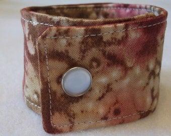 Cuff Bracelet Fabric Band Jewelry for Her Fall Bracelet Fabric Wristband Amber Batik
