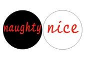 Naughty and Nice pinback buttons set