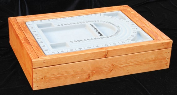 Craft Box, bead box, wood box, bead storage, craft supply storage, storage case - multi purpose use - CUSTOM ORDER