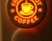 Fresh Hot Coffee 1/3 watt small NeonLithic Nightlight