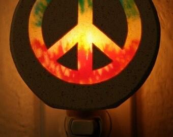 Tie Dye Peace Sign Nightlight
