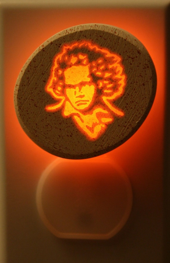 Beethoven 1/3watt small NeonLithic Nightlight