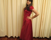 Vintage Handmade in Australia Red Evening Prom Dress