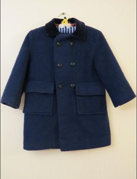 Vintage Pat Perkins Boy's Navy Winter Coat England