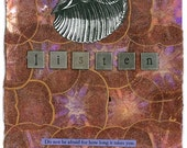 Listen - Collage Poetry and Inspirational Greeting Card