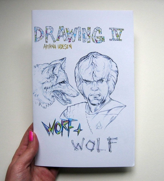 Drawing IV Worf and Wolf zine