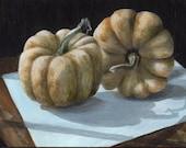 Acrylic Still Life Painting Original Art Realism Gourd Small Painting