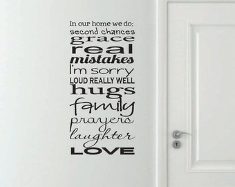 Vinyl Wall Decal In our home we do...- Family Rules Vinyl Wall Decal