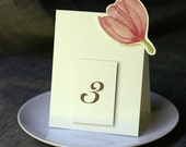 Pink Tulip Table Numbers - Weddings, showers, events, parties, holidays