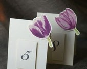 Mixed Purple Tulip Table Numbers - Weddings, showers, events, parties, holidays