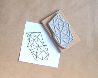 Crystal Configuration 08 - Hand Carved Stamp