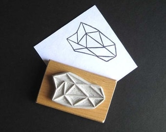 Crystal Configuration 20 - Hand Carved Stamp