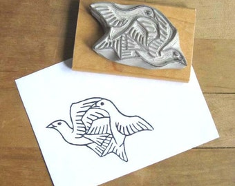 Escher Birds Hand Carved Stamp