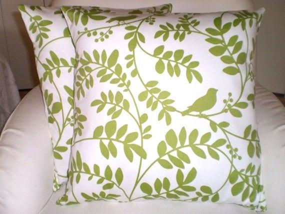 Green White Pillow Covers Decorative Throw Pillows Cushions
