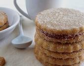 Cinnamon Guava Shortbread Sandwich Cookies