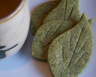 Citrus Scented Green Tea Sables Cookies