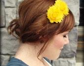 Shabby Chic Headband in Golden Sunshine Yellow for Women and Girls