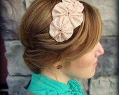 Headband for Women, Nude Flower Headband for Adults and Girls