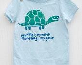 Murtle the Turtle - Silk Screened Humorous Kids T-shirt