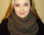 Lacy Infinity Scarf with Slightly Scalloped Edging