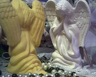 3 Beeswax Praying Angel Candle Kneeling Angel Choice Of Color