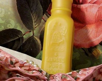Beeswax Honey Jar Bottle Antique Bottle Shaped Beeswax Candle 4 Oz Honey Bottle