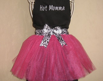 Custom Adult Personalized Tutu Apron & Chef Hat