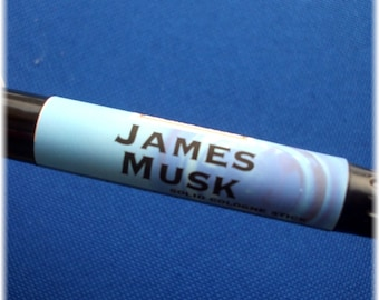 Solid COLOGNE Stick - JAMES MUSK - masculine musk scent by Man Cave Soapworks -free Shipping to U S