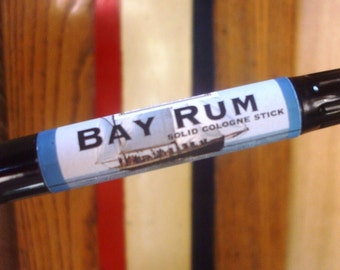 Solid COLOGNE Stick - BAY RUM - classic manly scent  - ships Free to U S
