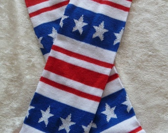 Patriotic Fourth of July stars and stripes leg warmers / baby legs / arm warmers Memorial Day