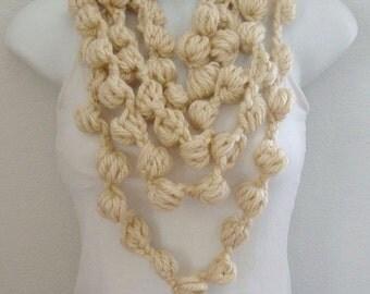 Crochet Bubble Scarf