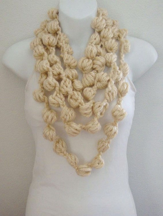Crochet Bubble Scarf