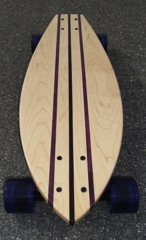 "Skateboard - Maple with Wenge & Purpleheart Stringers - ""Whitehaven"" complete"