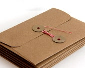 Kraft String Tie Envelopes A7 (set of 6) for 5 x 7 cards and photos