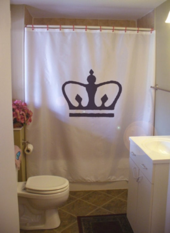 royal crown shower curtain king queen prince princess royalty