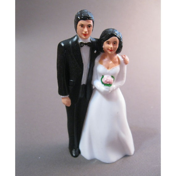 SALE - cake topper - bride and groom