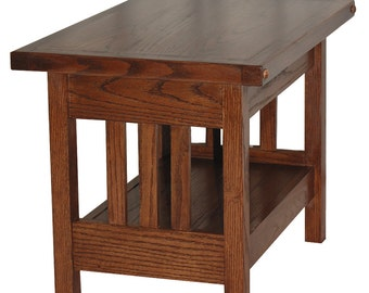 Arts and Crafts Inspired Side Table in Mission Style