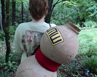 Gaara's Gourd, Cosplay, Naruto, anime, props, cosplay props, gaara, gourd, anime cosplay, hand made, costumes, Role playing,