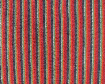Handwoven Fabric- 3,4 Yards Wool Striped Traditional Folk