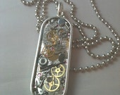 Clockwork Clutter Silver Steampunk Necklace