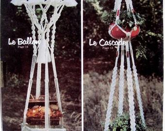 Macrame Home Decor Pattern Book - Swag Lamp - Hanging Planters - Sunburst