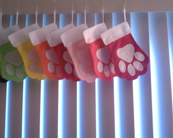 Pawprint Pet Stocking - Dog or Cat- Your choice of one