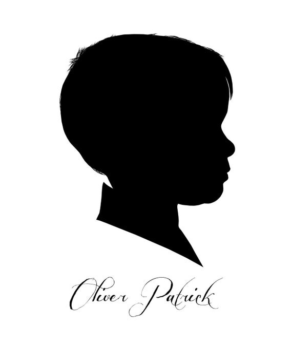 Custom Silhouette Portrait Printable Mother's Day Gift Family Portrait